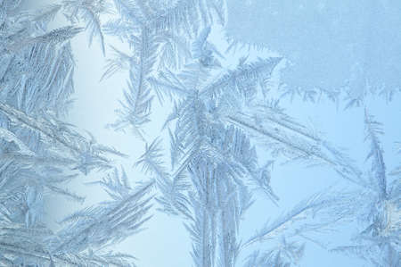 Frosen glass of a window, cold in the winter Stock Photo - 6945517