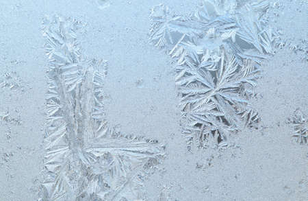 Frosen glass of a window in a cold winter day Stock Photo - 6945558