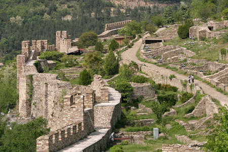 The fortress at Tsarevets hills near Veliko Tarnovo, Bulgaria