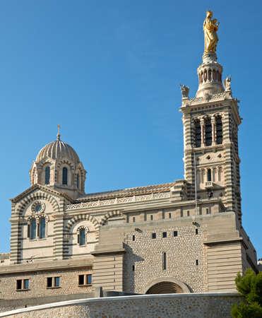 garde: Basilica Notre dame de la garde in Marseille, France