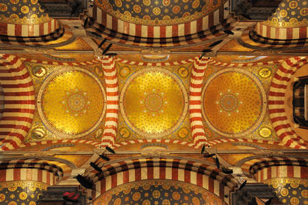garde: Golden dome of the Notre Dame de la garde cathedral in Marseille, France Editorial