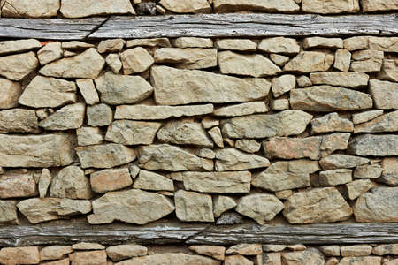 flint: Ancient flint and stone wall from the village of Zheravna, Bulgaria