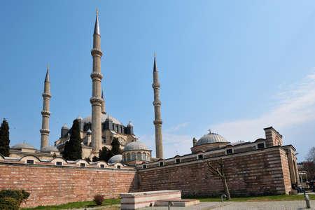 edirne: Exterior of Selimie mosque in Edirne, Turkey Stock Photo