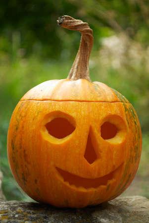 helloween: Pumpkin lantern for Helloween holiday tradition