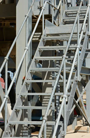 Industrial Metal Stairs Coated With Zinc Stock Photo   18430350