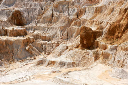 kaolin: Old limestone and kaolin quarry to produce china clay and porcelain