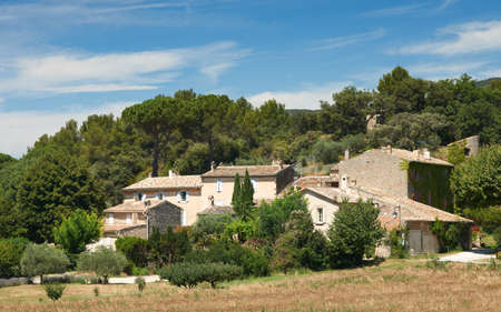 lourmarin: Typical french stone houses in Lourmarin village, Provence, district of Luberon, France