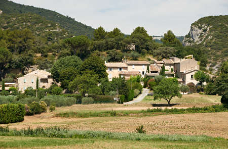 Typical french stone houses in Lourmarin village, Provence, district of Luberon, France Stock Photo - 18432770