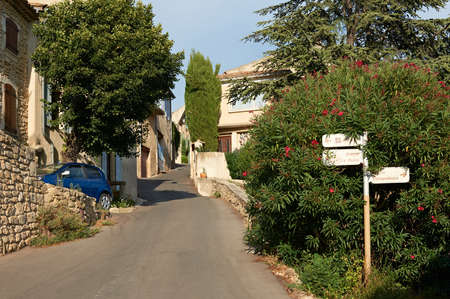 luberon: Street in village of Ansouis, French Provence, Luberon region
