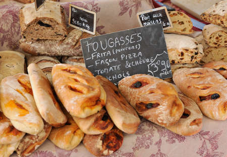 Random types of traditional French Provence market Stock Photo