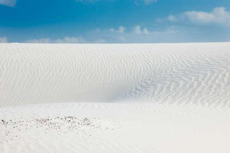 kaolin: Desert scenery with white quartz sand and blue sky