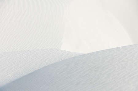 kaolin: Ridges and waves on white quartz sand