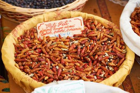 pili: Special bird-tongue pili pili pepper, very hot spice
