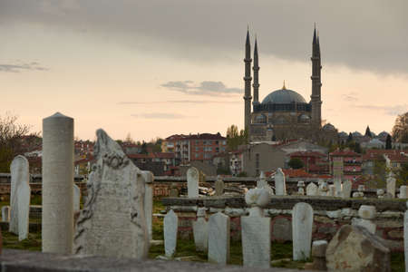 Selimie mosque, biggest muslim worship temple in Europe, in the centre of Edirne, Turkey  Stock Photo