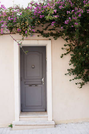 saint tropez: Street view home door, winter season in Saint Tropez, France