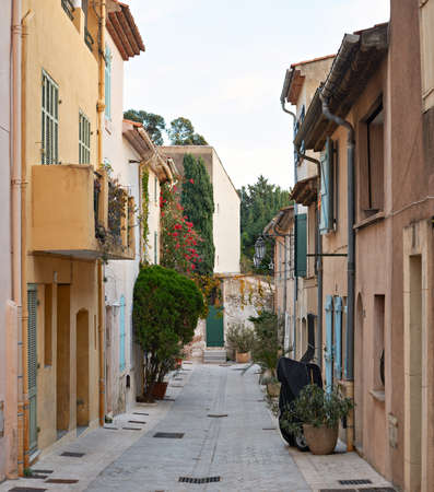 tropez: Street in the centre of Saint Tropez town, Provence, France