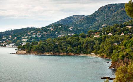 Le Lavandou - sea resort on the Mediterranean coast of France, French Riviera Stock Photo