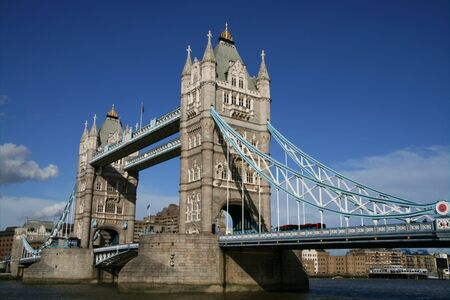 View of the famous London Tower Bridge on a sunny day