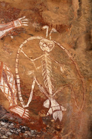 Aboriginal rock art at Nourlangie, Kakadu National Park, Northern Territory, Australia Stock Photo - 10340103