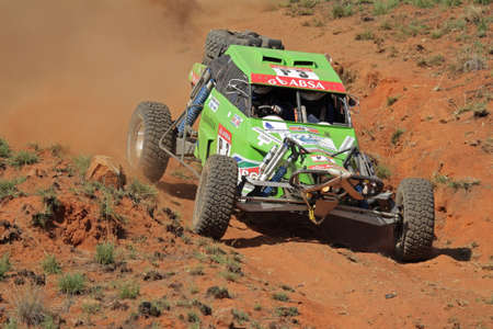 Bloemfontein, South Africa - October 15, 2011 - John Thompson and Clinton McNamara in their Zarco in action during a South African off road championship event