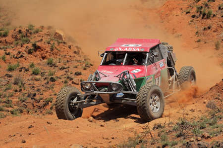 Bloemfontein, South Africa - October 15, 2011 - Keith and Andrew Makenete in their Zarco in action during a South African off road championship event