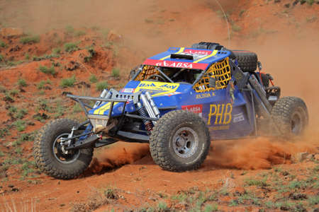 Bloemfontein, South Africa - October 15, 2011 - Marius and Jolinda Fourie in their BAT in action during a South African off road championship event