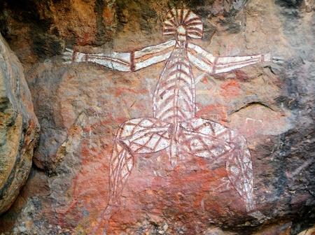 ノーランジー、カカドゥ国立公園、ノーザン テリトリー、オーストラリアでアボリジニー アート