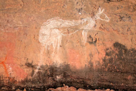 Aboriginal rock art - Kangaroo - at Nourlangie, Kakadu National Park, Northern Territory, Australia