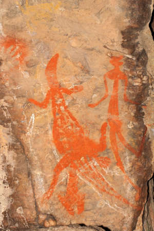 aborigines: Aboriginal rock art at Nourlangie, Kakadu National Park, Northern Territory, Australia
