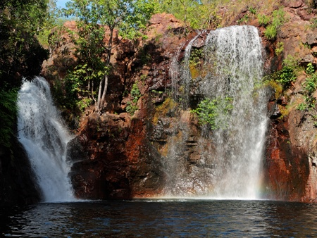 Waterfall and pool with clear water, Kakadu National Park, Northern Territory, Australia photo