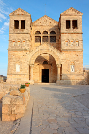 View of the historical Church of the Transfiguration on Mount Tabor, Israel