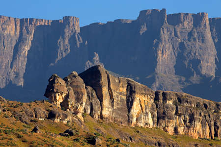 High peaks in the Drakensberg mountains, Royal Natal National Park, South Africa Stock Photo - 153912263