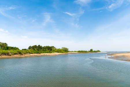 Arcachon Bay (France), view over the bay of Gujan-Mestras, near Arcachon