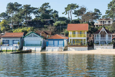 Arcachon Bay, France. The oyster village of The Grass, close to the Cap Ferret Banque d'images - 97804518