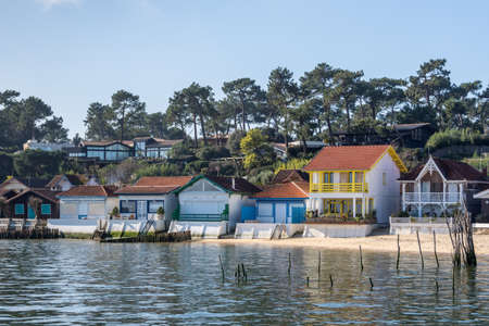 Arcachon Bay, France. The oyster village of The Grass, close to the Cap Ferret Banque d'images - 98211999
