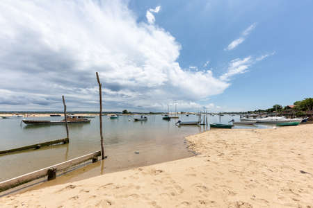 Arcachon Bay, France, view over the dune of Pilat from Cap Ferret Banque d'images - 103835377