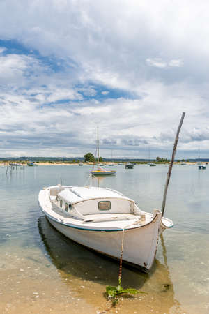 Cap Ferret, France, traditional boat of the Arcachon Bay called 'pinasse' Banque d'images - 103835376