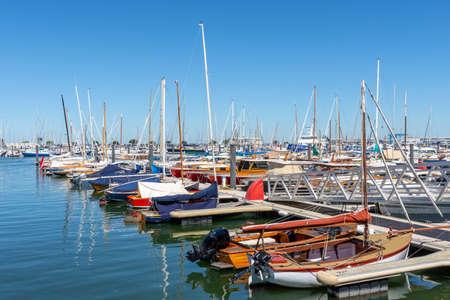 Arcachon, France. The marina Banque d'images - 104593521