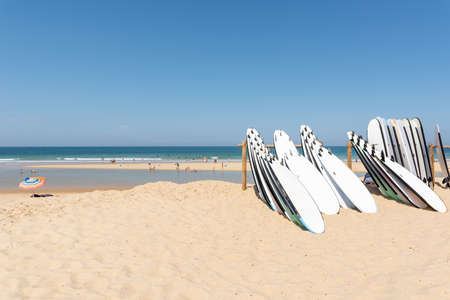 Cap Ferret, Arcachon Bay, France. The beach of the Horizon on the ocean side Banque d'images - 107683556