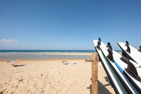 Cap Ferret, Arcachon Bay, France. The beach of the Horizon on the ocean side Banque d'images - 107683557
