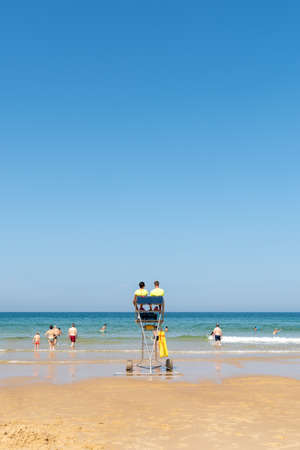 Cap Ferret, Arcachon Bay, France. The beach of the Horizon on the ocean side Banque d'images - 107683562
