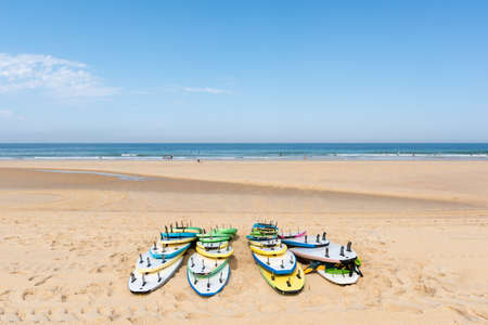 Cap Ferret, Arcachon Bay, France. The beach of the Horizon on the ocean side Banque d'images - 107683576