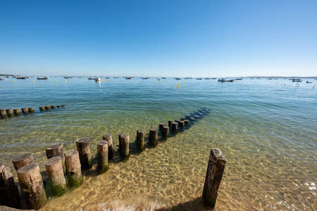 Cap Ferret, Arcachon Bay, France. View over the bay Banque d'images - 114913087