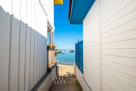 Cap Ferret, Arcachon Bay, France. Oyster village of The Grass Banque d'images - 114913130