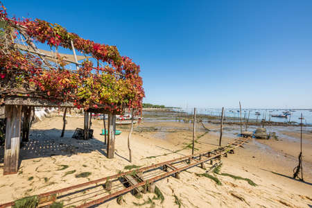 Arcachon Bay, France. The beach of The Canon Banque d'images - 115269946