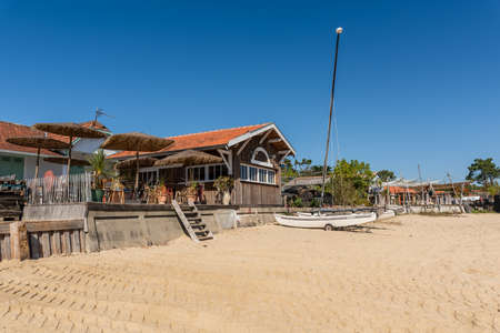 Arcachon Bay, France. The beach of The Canon Banque d'images - 117161813