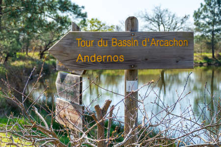Arcachon Basin (France), hiking trail between Andernos and Ares