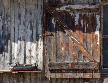 Bassin d'Arcachon (France), detail of an oyster hut