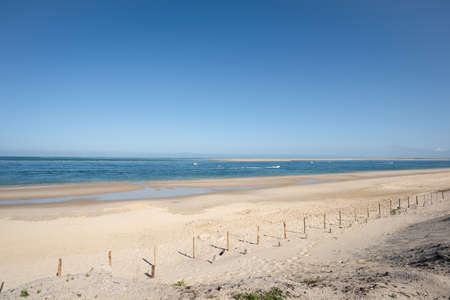 Arcachon Bay, France. The beach The Lagoon close to the dune of Pilat
