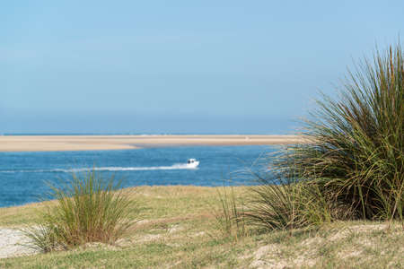 Arcachon Bay, France. View over the sand bank of Arguin